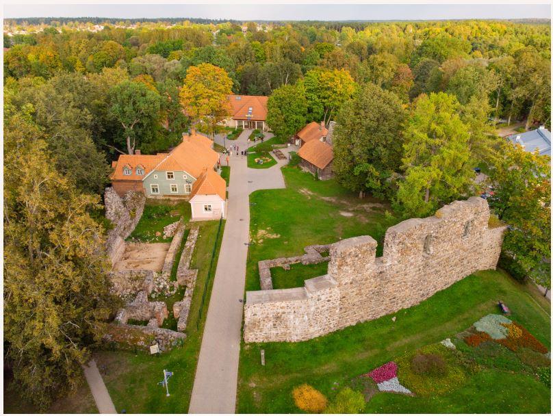 Valmiera Castle ruins